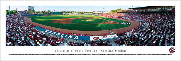 South Carolina Gamecocks Baseball Carolina Stadium Gameday Panoramic Poster Print - Blakeway Worldwide
