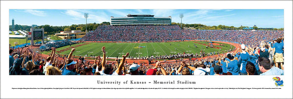 Kansas Jayhawks Football Memorial Stadium Gameday Panoramic Poster - Blakeway