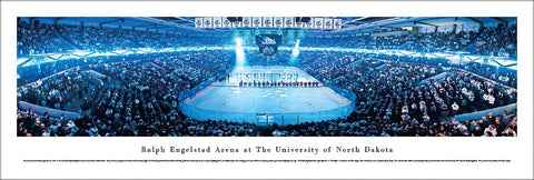 "North Dakota Fighting Sioux Hockey ""Game On"" Panoramic Poster Print - Blakeway 2012"