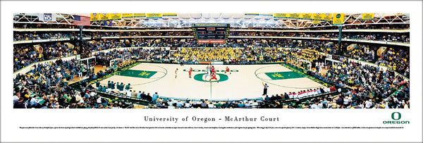 "Oregon Ducks Basketball ""McArthur Court Classic"" Panoramic Poster Print - Blakeway 2010"