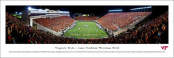 "Virginia Tech Football Lane Stadium Game Night ""Orange Effect"" Panoramic Poster Print - Blakeway"