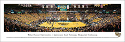 Wake Forest Basketball Joel Coliseum Game Night Panoramic Poster Print - Blakeway