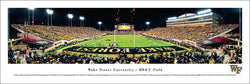 "Wake Forest Football ""Touchdown!"" Game Night Panoramic Poster - Blakeway 2012"