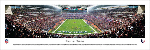 Houston Texans 2013 Playoff Victory Reliant Stadium Panoramic Poster Print - Blakeway