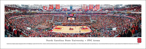NC State Wolfpack Basketball PNC Arena Game Night Panoramic Poster Print - Blakeway