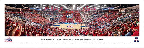 Arizona Wildcats Basketball McKale Center 40th Anniversary Game Night Panoramic Poster - Blakeway