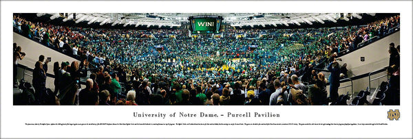 "Notre Dame Fighting Irish Basketball ""Storm the Court"" Panoramic Poster - Blakeway 2013"