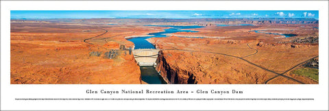 Glen Canyon Dam, Glen Canyon National Recreation Area, Arizona Panoramic Poster - Blakeway