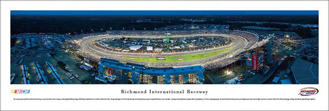 Richmond International Raceway Race Night (2013 Toyota Owners 400) Aerial Panoramic Poster Print - Blakeway