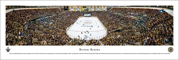 Boston Bruins TD Banknorth Center 2013 Playoffs Panoramic Poster Print - Blakeway