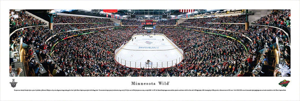 Minnesota Wild Xcel Energy Center 2013 Playoffs Panoramic Poster Print - Blakeway