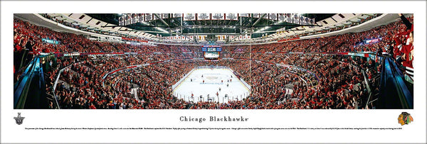 Chicago Blackhawks United Center 2013 Playoffs Panoramic Poster Print - Blakeway