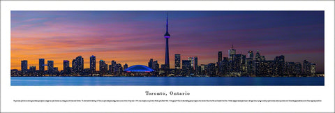 Toronto, Ontario, Canada Waterfront Skyline at Dusk Panoramic Poster - Blakeway Worldwide