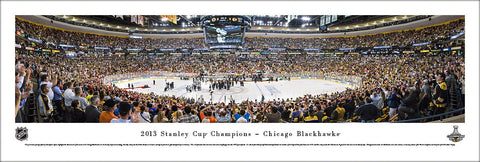 Chicago Blackhawks 2013 Stanley Cup Champions Panoramic Poster Print - Blakeway