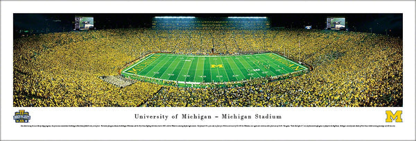 "Michigan Wolverines Football ""Under the Lights II"" (2013) Panoramic Poster - Blakeway"