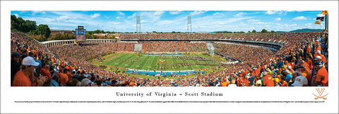Virginia Cavaliers Football Scott Stadium Gameday Panoramic Poster Print - Blakeway 2013