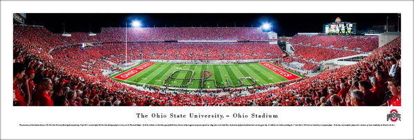 "Ohio State Buckeyes Football ""Script Ohio"" Panoramic Poster Print - Blakeway 2013"