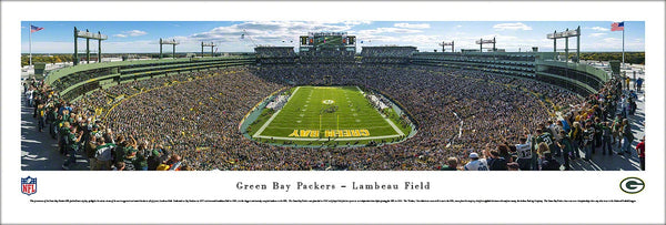 "Green Bay Packers ""End Zone"" (2013) Lambeau Field Panoramic Poster Print - Blakeway"