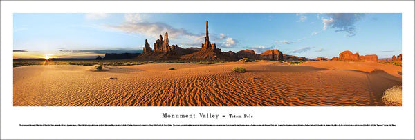 "Monument Valley ""Totem Pole"" Navajo Nation Panoramic Landscape Poster Print - Blakeway Worldwide"