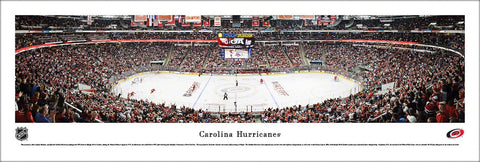"Carolina Hurricanes ""Goal"" PNC Arena Game Night Panoramic Poster Print - Blakeway"