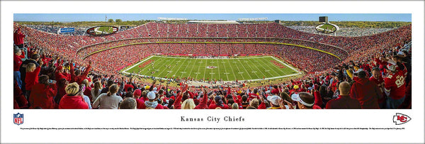 Kansas City Chiefs Arrowhead Stadium Gameday Panoramic Poster Print - Blakeway