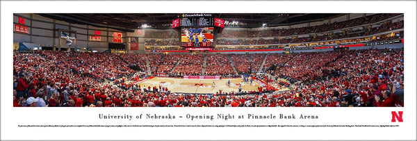 Nebraska Huskers Basketball Opening Night at Pinnacle (2013) Panoramic Poster Print - Blakeway