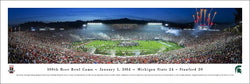 Michigan State Spartans Rose Bowl 2014 Champions Panoramic Poster Print - Blakeway Worldwide