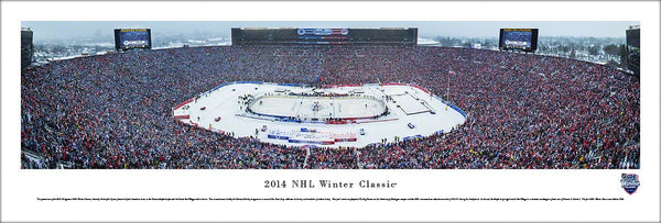 NHL Winter Classic 2014 (Maple Leafs vs Red Wings at Michigan Stadium) Panoramic Poster