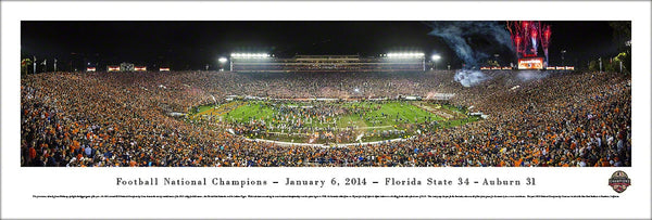 Florida State Seminoles 2014 BCS Game National Champs Panoramic Poster - Blakeway