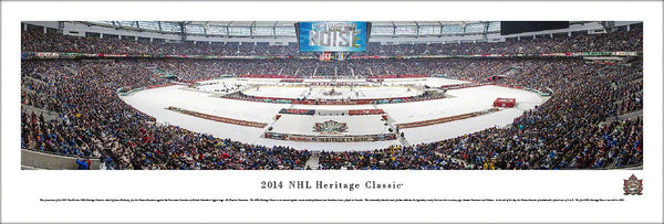 Vancouver Canucks 2014 Heritage Classic at BC Place Panoramic Poster Print - Blakeway