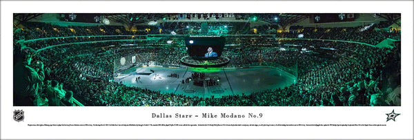 "Dallas Stars American Airlines Center ""Mike Modano Night"" Panoramic Poster Print - Blakeway 2014"
