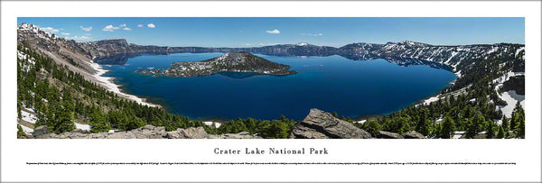 Crater Lake National Park, Oregon Panoramic Landscape Poster Print - Blakeway Worldwide