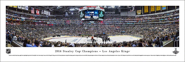 L.A. Kings 2014 Stanley Cup Champions Staples Center Panoramic Poster Print - Blakeway