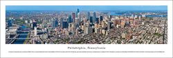 Philadelphia, Pennsylvania Skyline Aerial View Panoramic Poster Print - Blakeway Worldwide