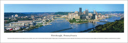 Pittsburgh, Pennsylvania Allegheny and Monongahela Aerial Skyline Panoramic Poster Print - Blakeway