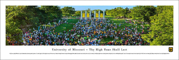 University of Missouri (Columbia) Tiger Walk Commemorative Panoramic Poster Print - Blakeway