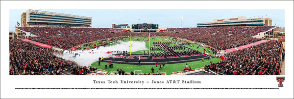 Texas Tech Football Jones AT&T Stadium Gameday Panoramic Poster Print (2014) - Blakeway