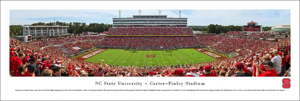 NC State Wolfpack Football Carter-Finley Stadium Panoramic Poster Print - Blakeway Worldwide
