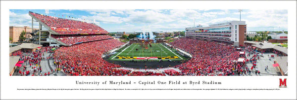 Maryland Terrapins Football Byrd Stadium Gameday Panoramic Poster Print - Blakeway 2014