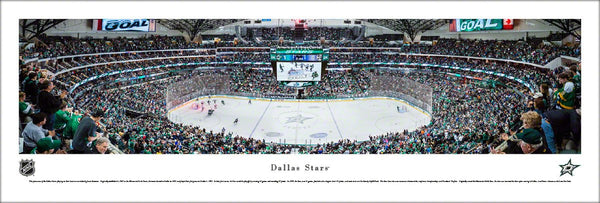 Dallas Stars Hockey American Airlines Center Game Night Panoramic Poster Print - Blakeway Worldwide