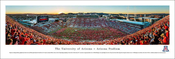 Arizona Wildcats Football Arizona Stadium Gameday Panoramic Poster Print - Blakeway Worldwide