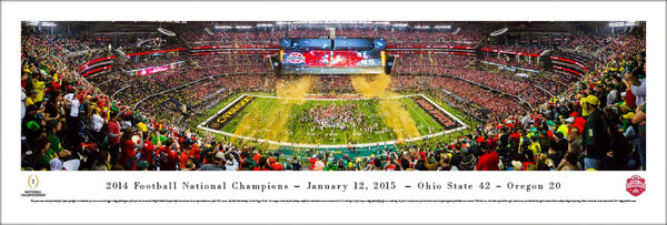 Ohio State Buckeyes Football 2014 NCAA National Championship Panoramic Poster