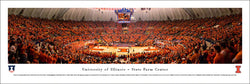 Illinois Fighting Illini Basketball State Farm Center Game Night Panoramic Poster - Blakeway Worldwide