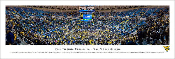 "West Virginia Mountaineers Basketball ""Take Me Home"" Panoramic Poster Print - Blakeway 2016"