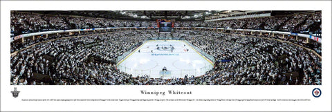 "Winnipeg Jets ""Winnipeg Whiteout"" Playoff Game Night Panoramic Poster Print (4/20/2015) - Blakeway"