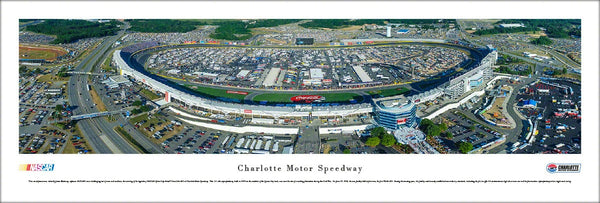 Charlotte Motor Speedway NASCAR Sprint Cup Race Panoramic Poster - Blakeway Worldwide