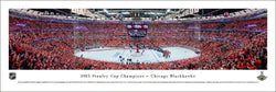 Chicago Blackhawks 2015 Stanley Cup Champions United Center Panoramic Poster Print - Blakeway