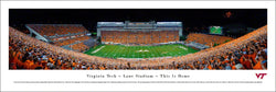 "Virginia Tech Football Lane Stadium ""This Is Home"" Panoramic Poster Print - Blakeway 2015"