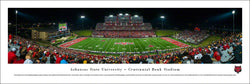 Arkansas State Red Wolves Football Game Night Panoramic Poster Print - Blakeway Worldwide