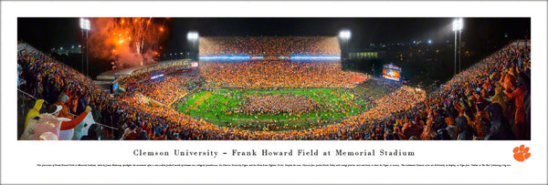 "Clemson Tigers Football ""Gather at the Paw"" Memorial Stadium Panoramic Poster Print - Blakeway 2015"